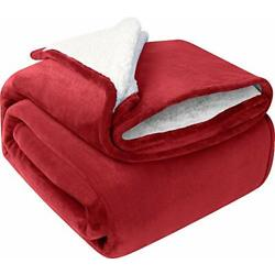 Kyпить Sherpa Flannel Fleece Reversible Blanket Extra Soft Brush Fabric Utopia Bedding на еВаy.соm