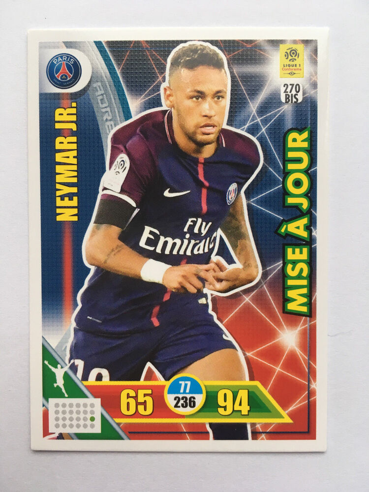 carte panini adrenalyn xl mise a jour ligue 1 2017 2018 n 270 bis neymar psg ebay. Black Bedroom Furniture Sets. Home Design Ideas