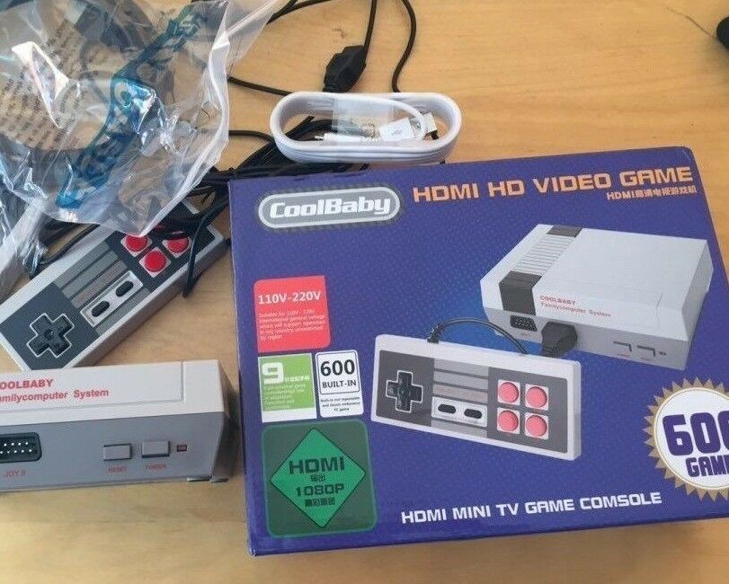 nintendo mini nes classic console hdmi brand new with 600 games ebay. Black Bedroom Furniture Sets. Home Design Ideas