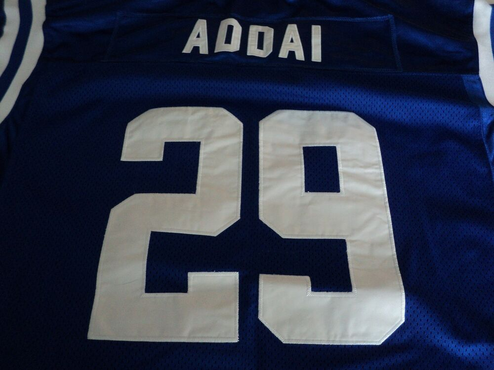 Joseph Addai Indianapolis Colts  29 Blue On Field NFL Reebok Jersey size 54  NEW  ab300ef6f48