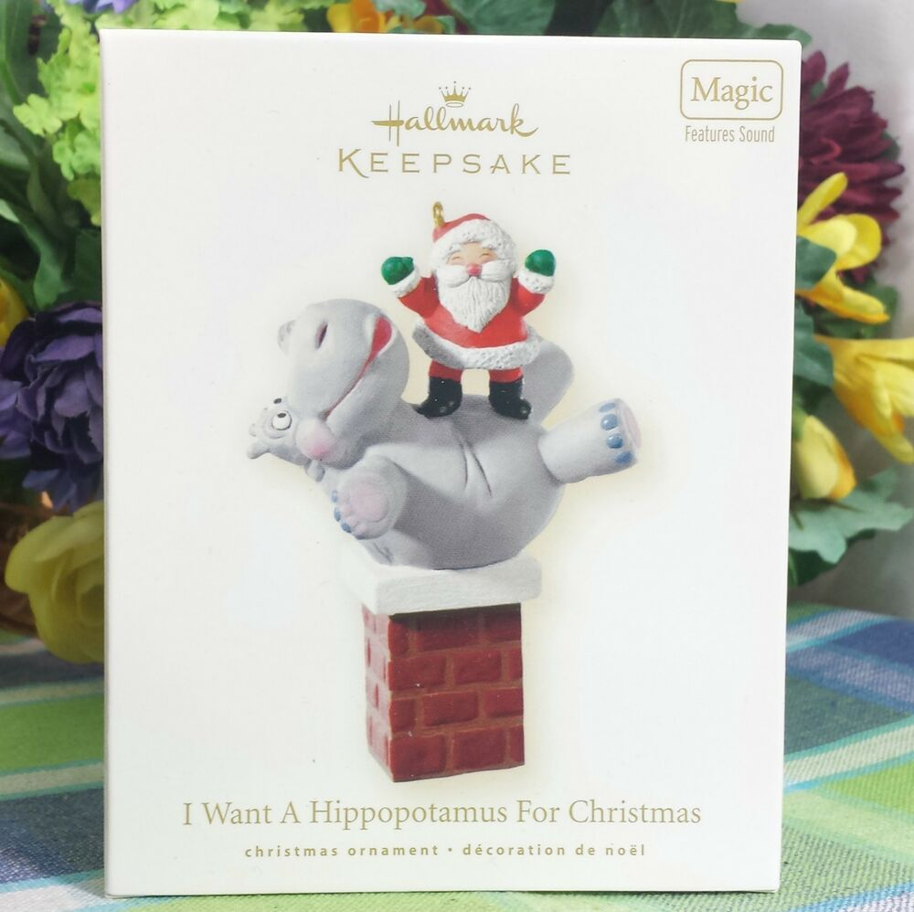 Hallmark I Want a Hippopotamus for Christmas 2008 ornament Musical ...