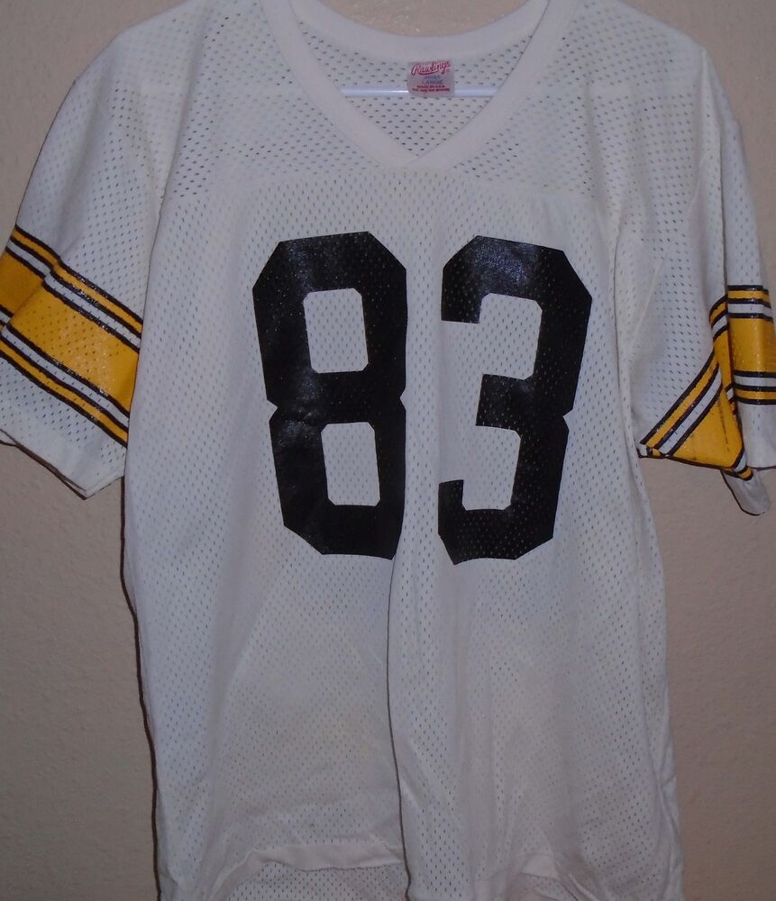 9347b94beb3 Louis Lipps Pittsburgh Steelers #83 White Rawlings Football Jersey Mens  Large | eBay