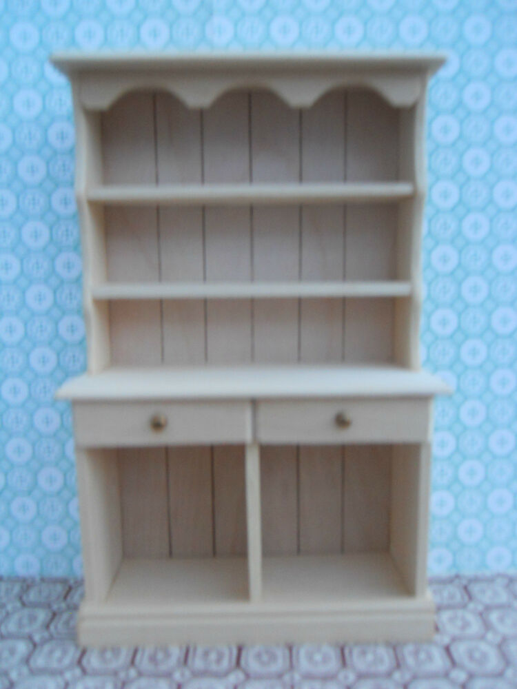 Dolls House Hand Made Miniature Furniture In 1 12 Scale Small Kitchen Dresser Ebay