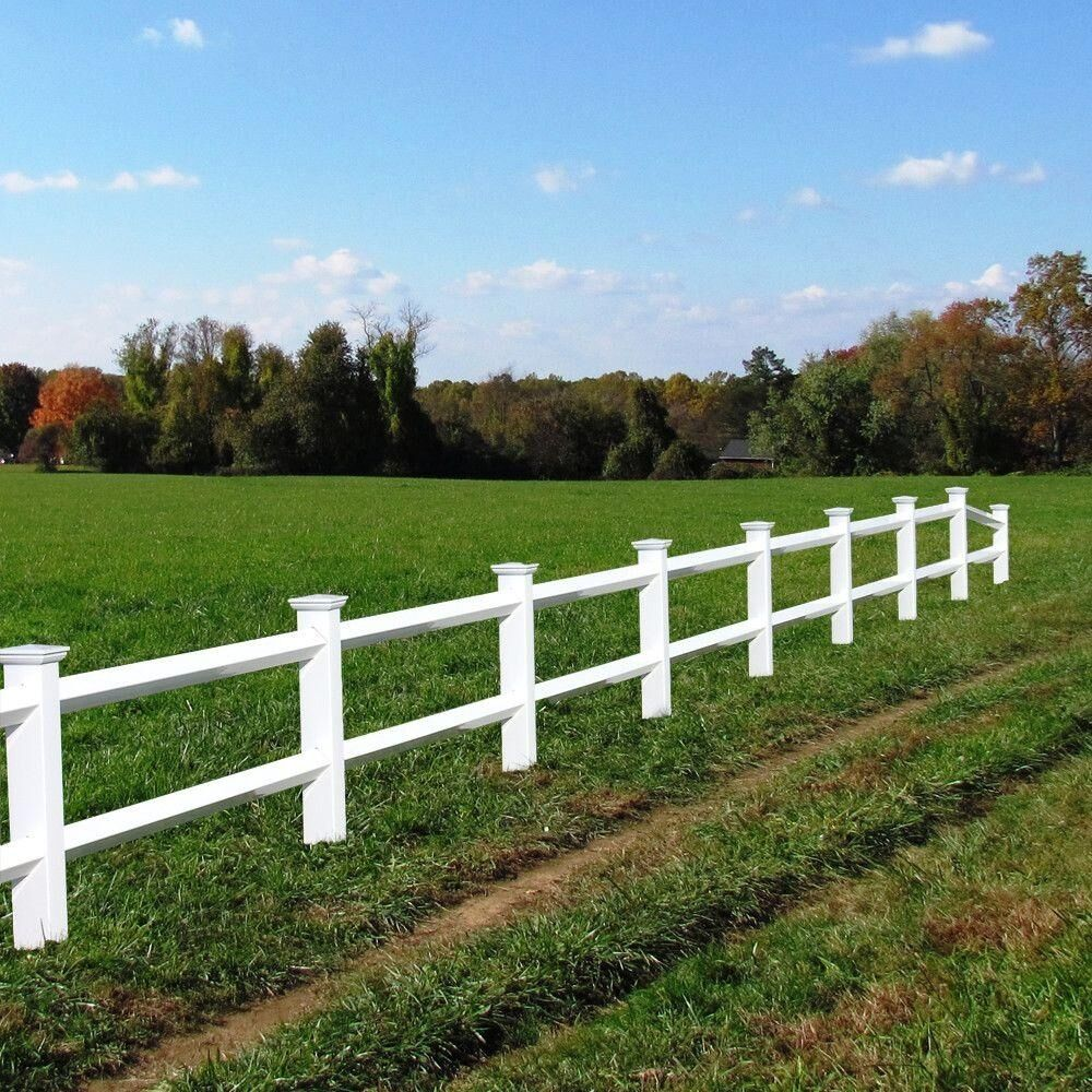 Rail vinyl fence panel post white diamond cover