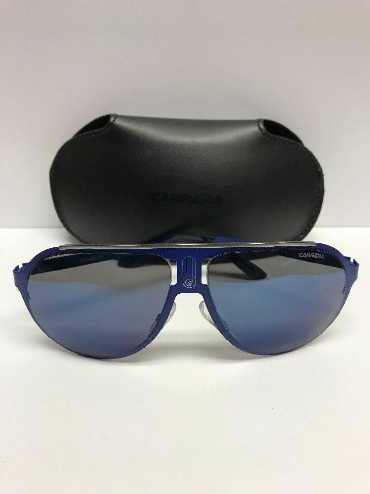 930eaf9588135 Carrera Champion Aviator Sunglasses Blue 6VXXT - Made in Italy Authentic w Case