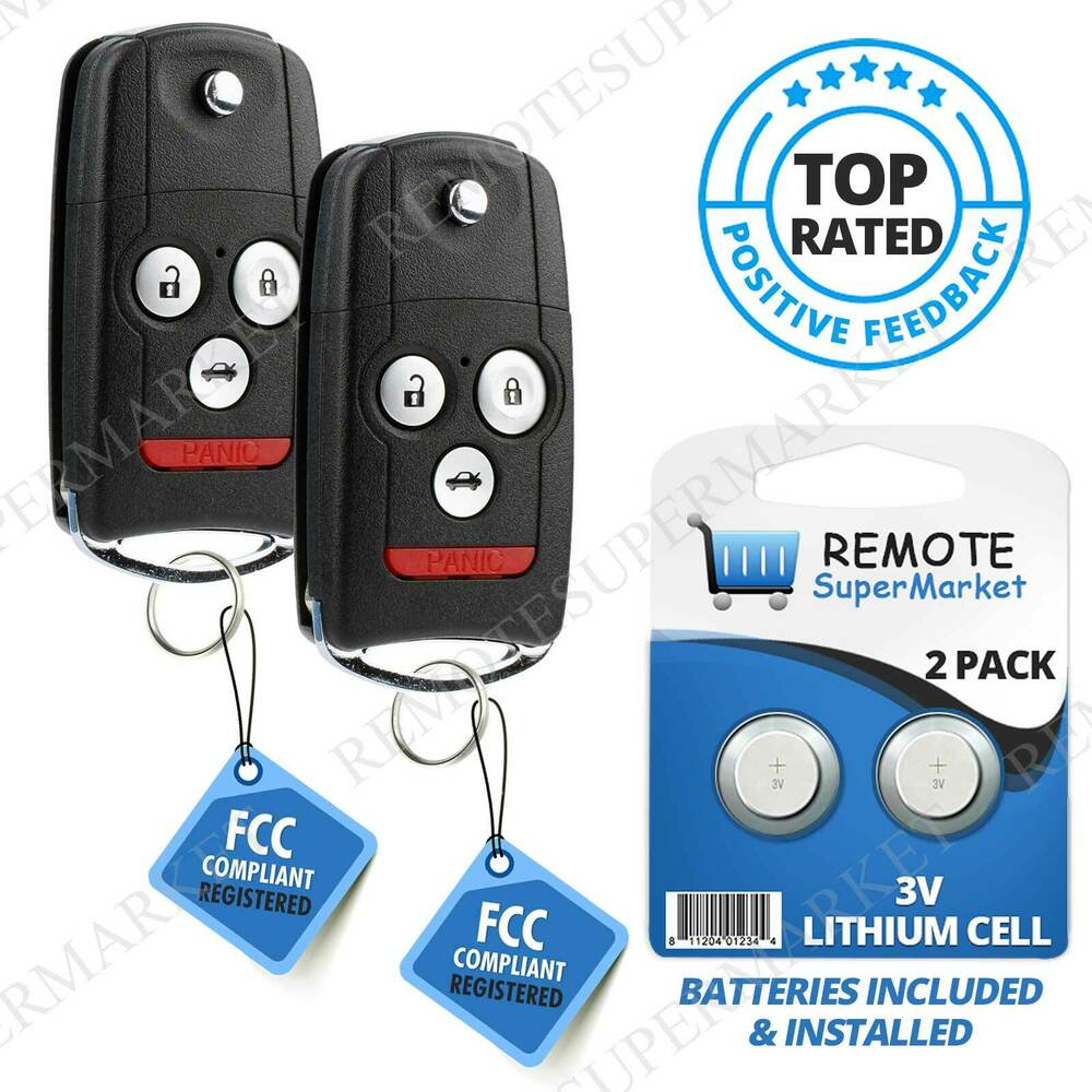 2 Replacement For Acura 2007-2013 MDX RDX Remote Car Fob