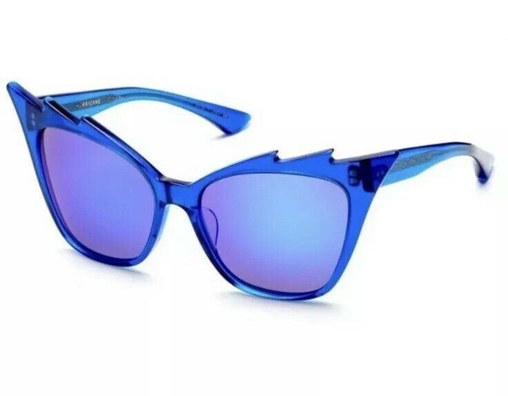 32cc5f388d2 Dita HURRICANE 22025-C Blue Women Sunglasses Frame Blue Mirror Lens New  w Case