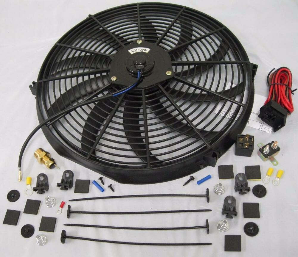 16 Quot Electric Curved Heavy Duty Cooling Radiator Fan