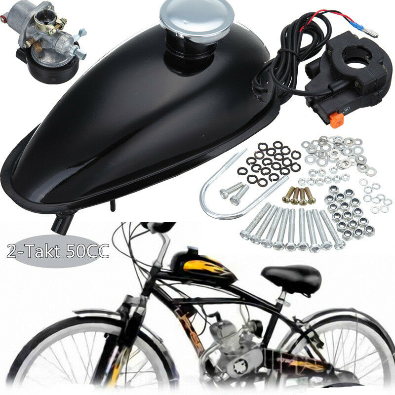 2 takt 50cc hinterradantrieb moteur motorisierte fahrrad. Black Bedroom Furniture Sets. Home Design Ideas