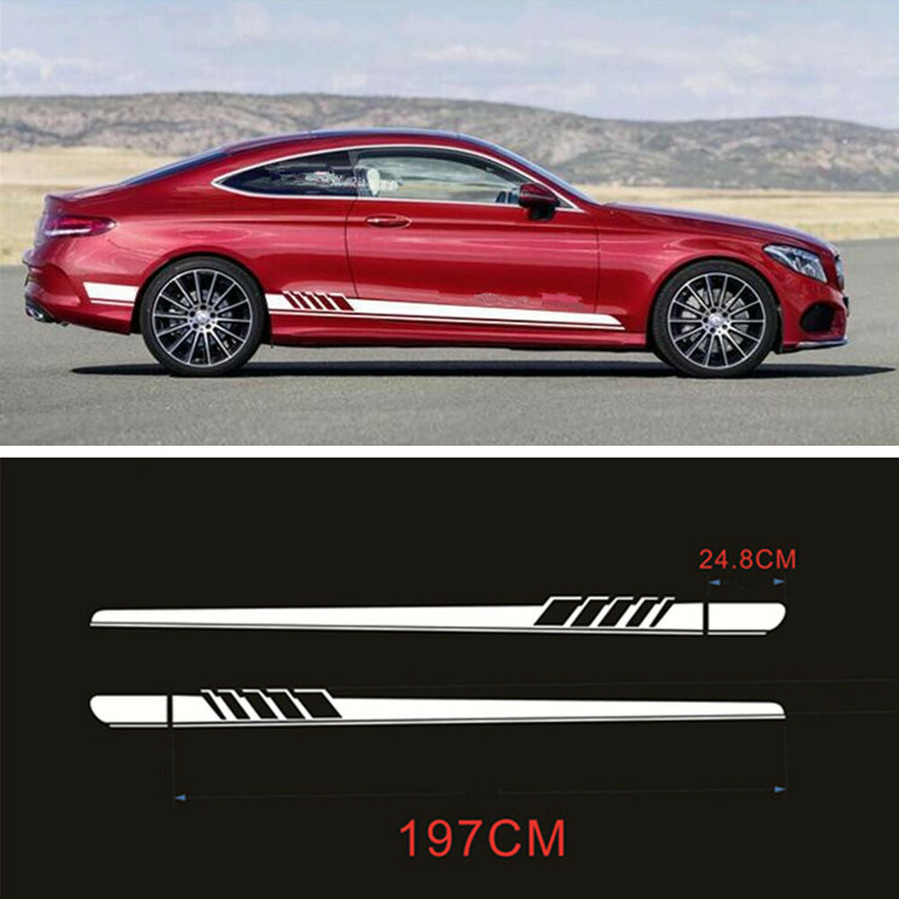 Auto Side Body Graphics Vinyl Decals Sports Racing Car