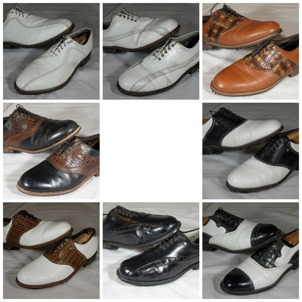 Used Mens Footjoy Classics Vintage Leather Golf Shoes Dry ...