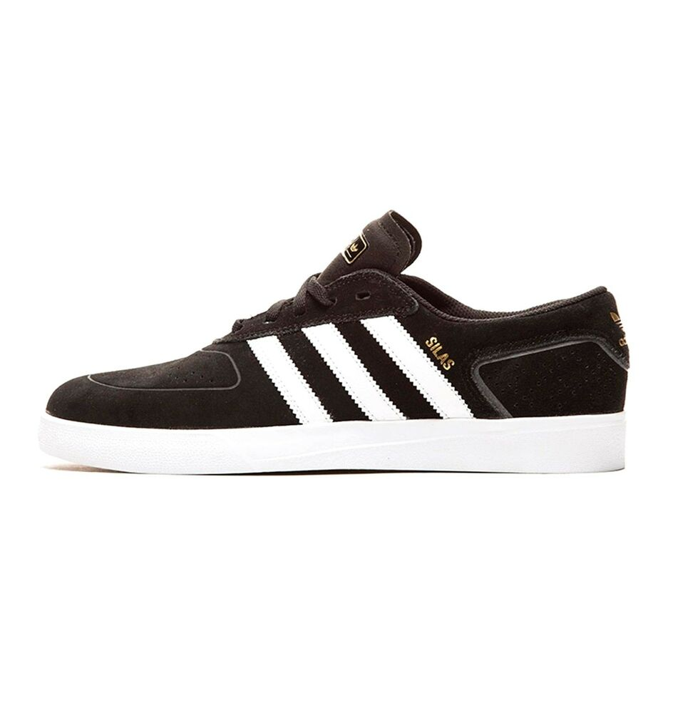 4984c7a450 Details about Adidas SILAS VULC Black White Power Red Casual Skate S85070  (320) Men s Shoes
