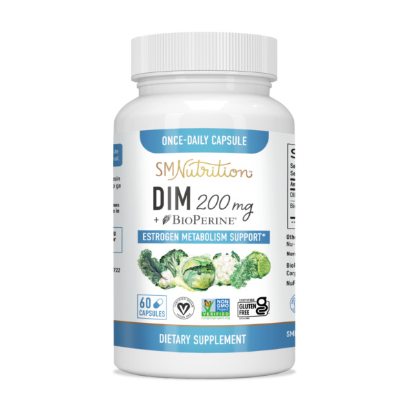 DIM Supplement Plus BioPerine for Menopause, PCOS, Estrogen Metabolism & Balance