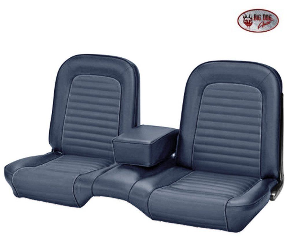 1964 1 2 1965 Ford Mustang Coupe Blue Front Bench Seat Upholstery