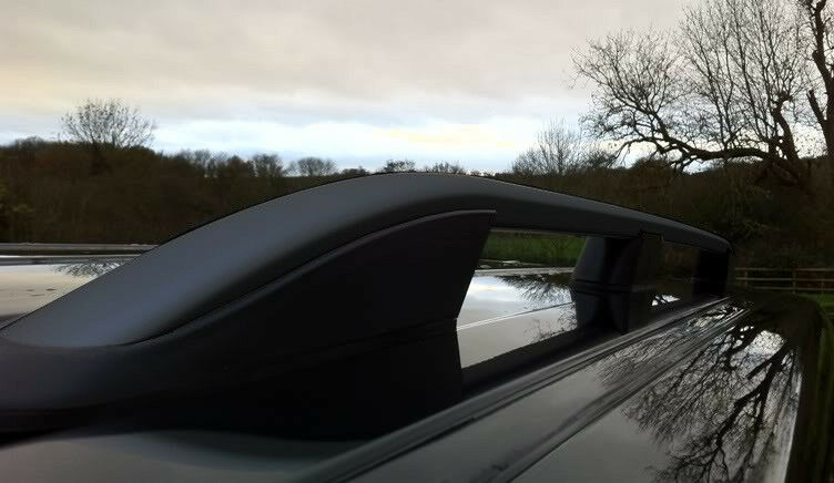 Black Roof Rack Rails Side Bars Set To Fit Swb Renault