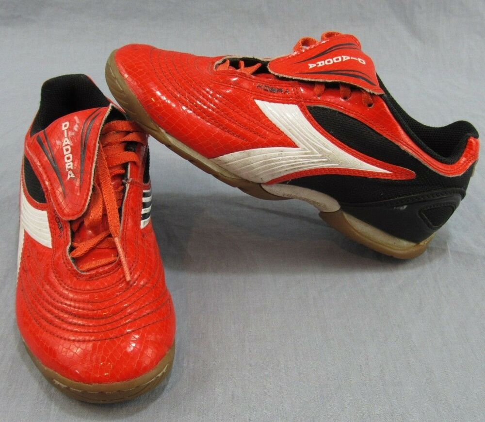 318c7303a Details about Diadora Kobra Indoor Turf Soccer Shoes Size 5 Orange Athletic  Gym Football