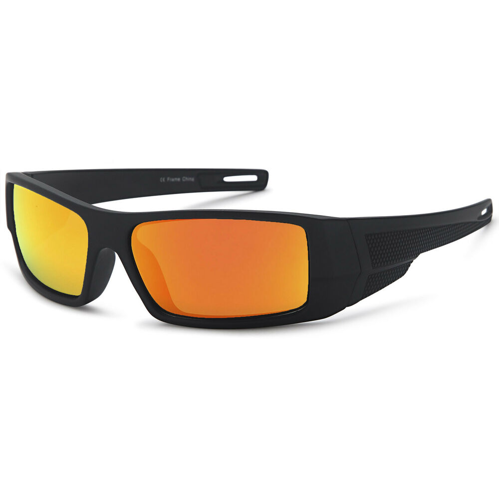 013bb81e2a Details about GAMMA RAY Polarized Wrap Around Sports Sunglasses with Shatterproof  Nylon Frame
