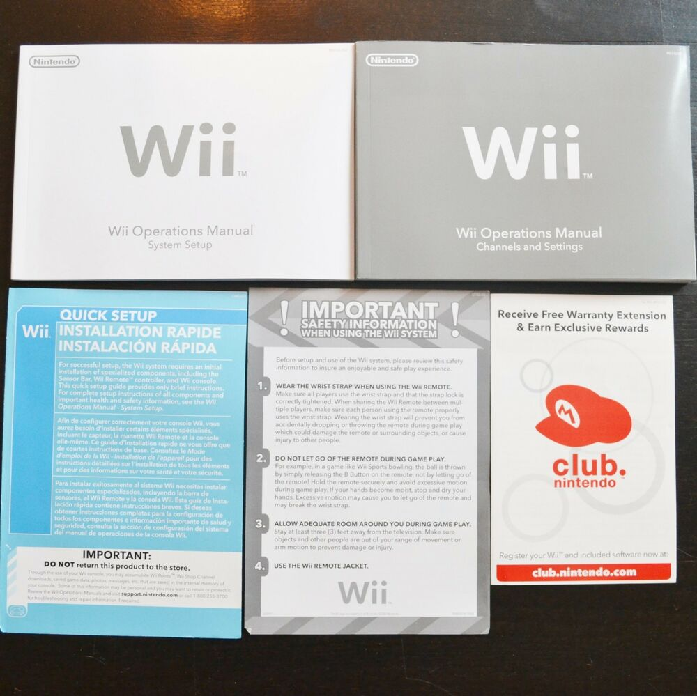 New Nintendo Wii System Console User Operations Manual Quick Start Guide  OEM | eBay