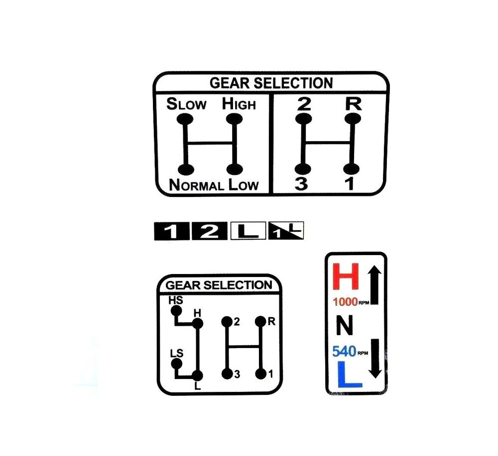 gear  u0026 pto selection decal fits david brown 770 780 880