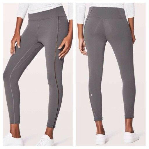 0bfcce7f7879a Details about NWT Lululemon Create Your Calm 7/8 Tight Pants Dark Shadow  DKSH Grey Size 8 HR
