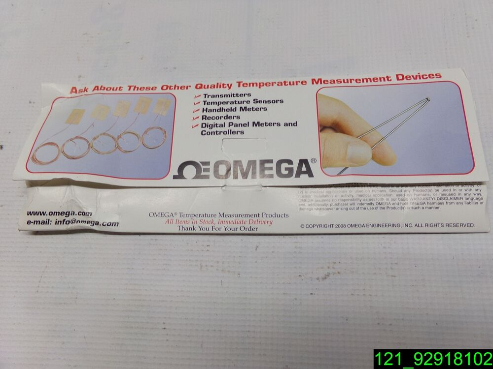 8b937482128 Details about OMEGA Unsheathed Fine Gage Thermocouples IRCO-003 - NEW