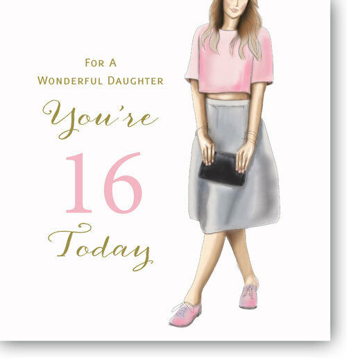 Details About LARGE HAPPY 16TH Birthday Greeting Card For A Wonderful Daughter By Mary Kirkham
