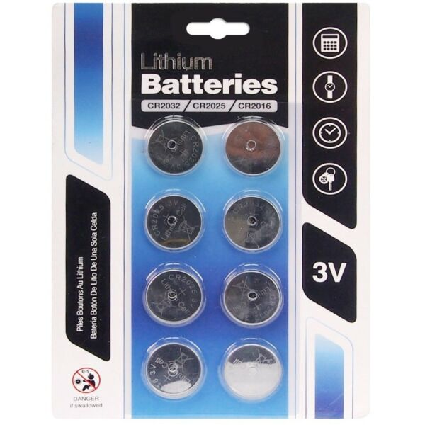 8 x CR2032 CR2025 CR2016 3v Lithium Watch Button Cell Battery CMOS Motherboard