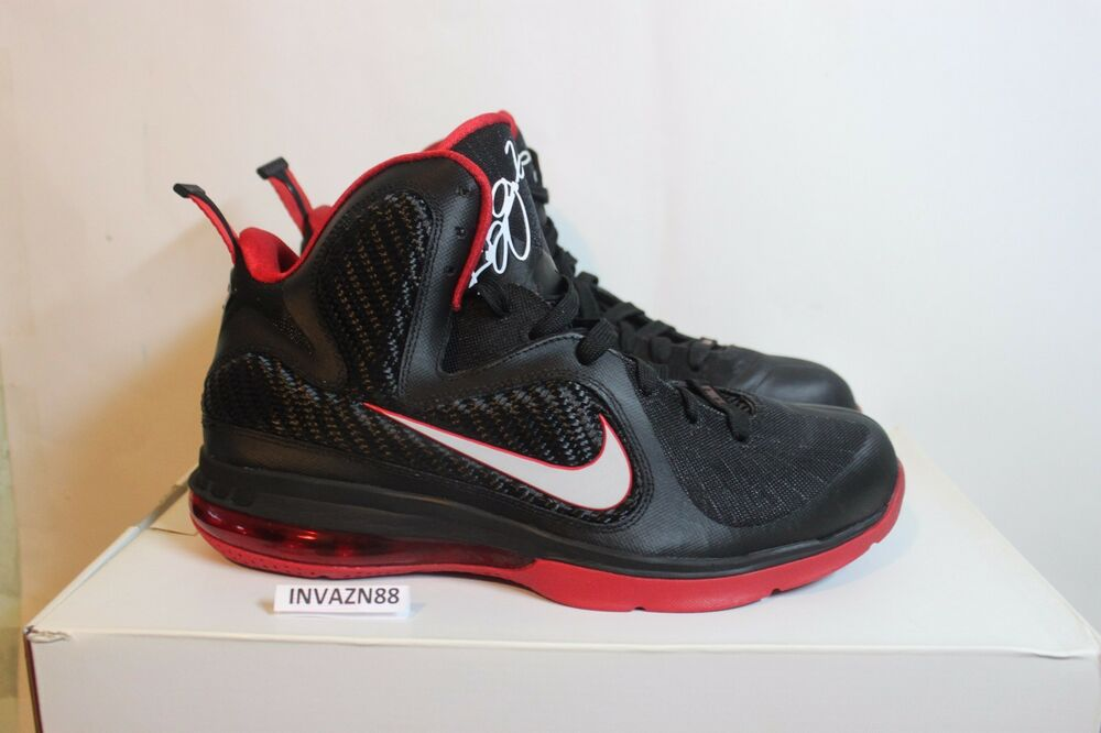 76af784a523 ... ireland nike air zoom max lebron 9 ix bred black red miami heat home  away ds