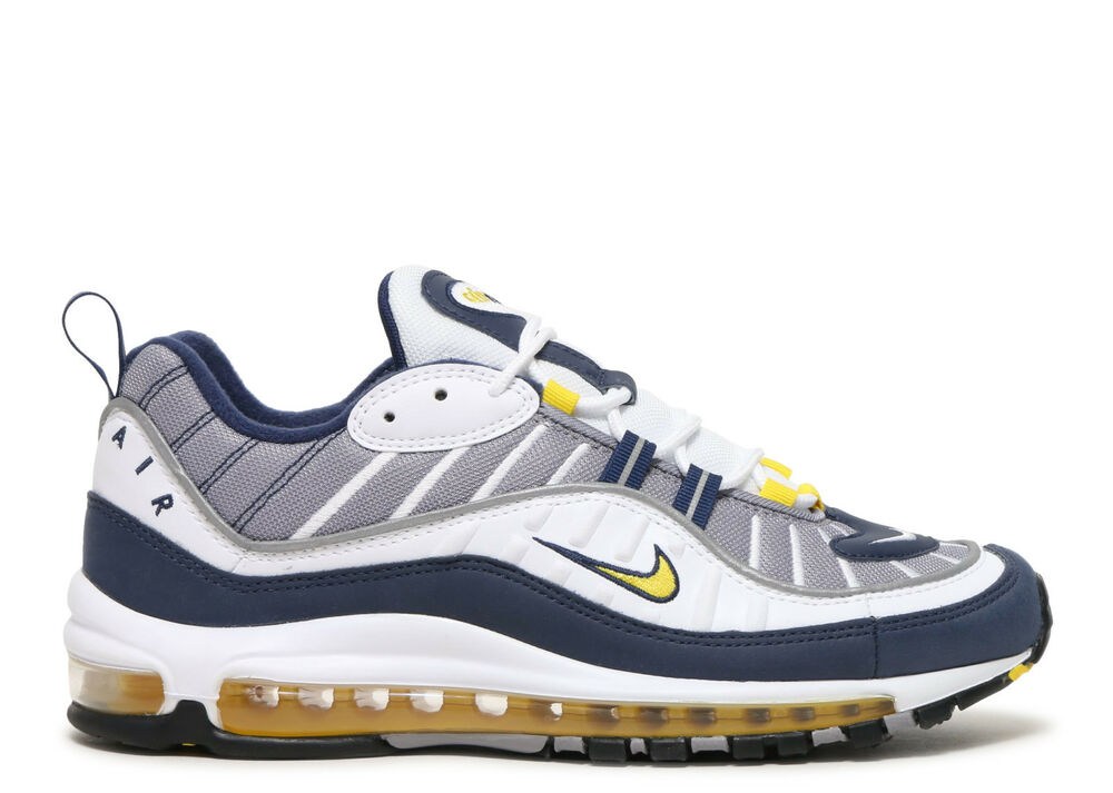 327c89524de Nike Air Max 98 OG Tour Yellow White Midnight Navy 640744-105 Gundam size  8-13 | eBay