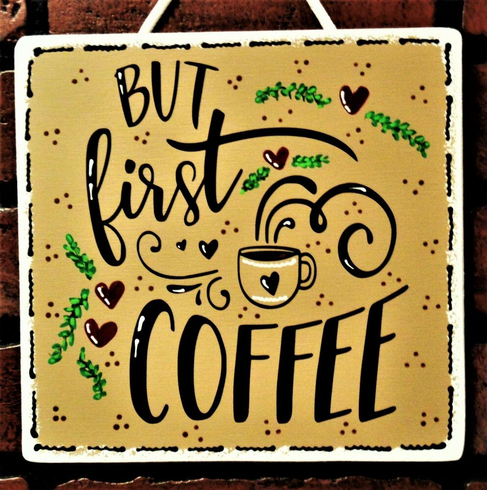 Lovely Black Wrought Iron Coffee Wall Art Decor Plaque Photos - The ...