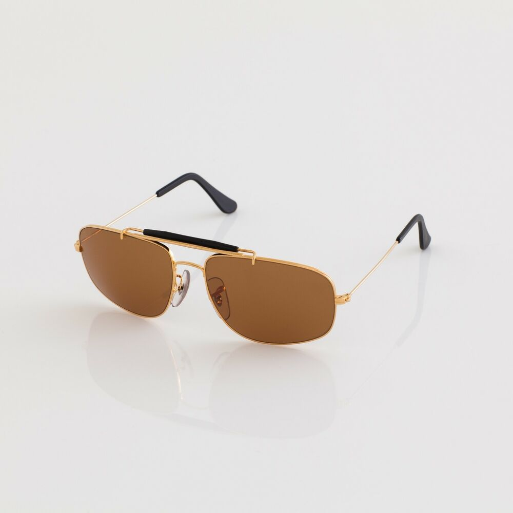 c917813615 Vintage Ray Ban B L Sunglasses Arista Gold Chromax W1699 Driving Series  Explorer