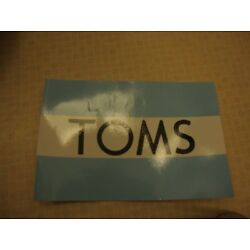 TOMS blue sticker/decal new mens shoes women shoes