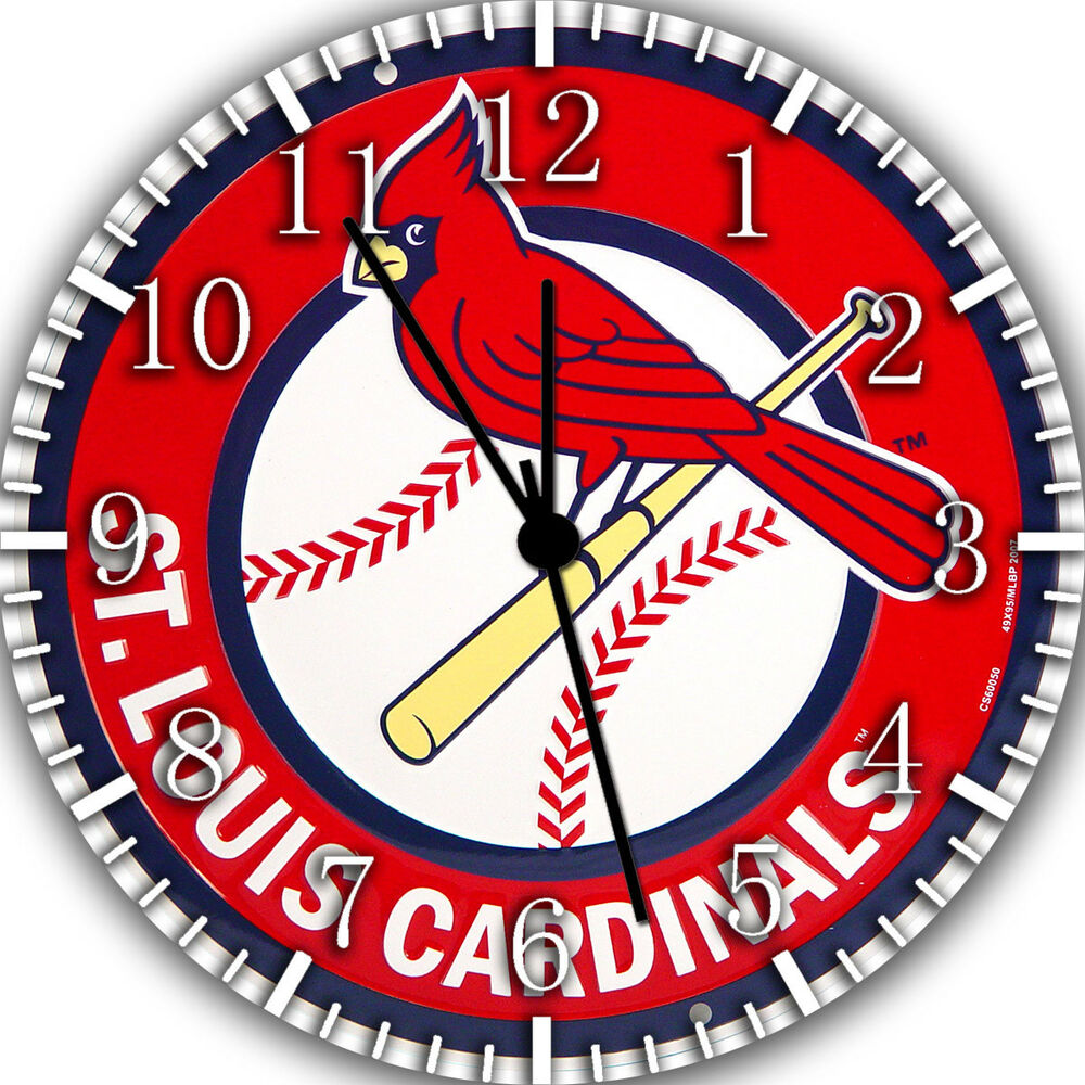 St Louis Cardinals Frameless Borderless Wall Clock Nice For Gifts