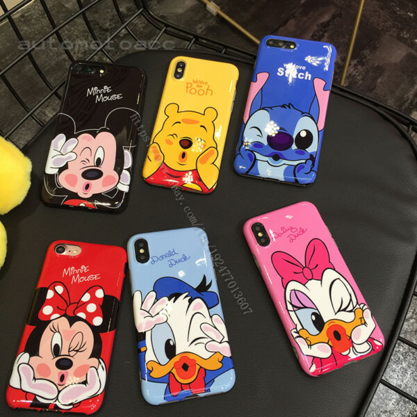 Cute Disney Cartoon IMD Soft Phone Case Cover For iphone XS MAX XR X 6s 7 8 Plus