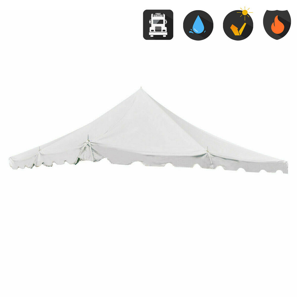 20 X20 Pole Tent Replacement Canopy Top 16 Oz Block Out