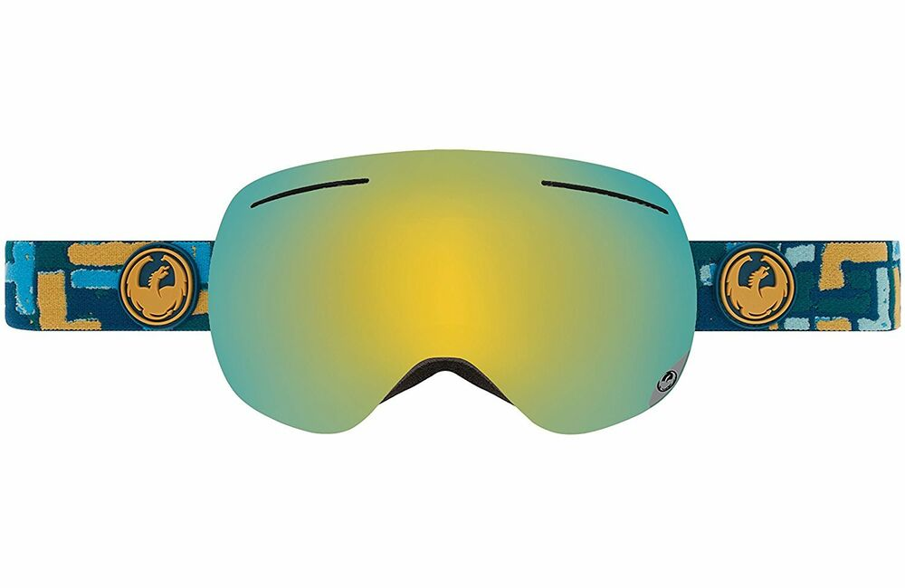 f7f35bc13d07 Details about Dragon Alliance X1 Ski Goggles Plot Gold Ionized +yellow Red  Ionized New