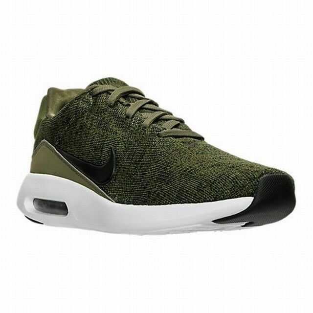 NIKE AIR MAX MODERN FLYKNIT SNEAKERS MENS 11.5 ROUGH GREEN BLACK SHOE 876066 300 | eBay