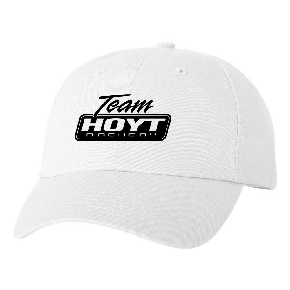 e92c532f82c Details about Team Hoyt Archery Logo Dad Hat Pro Gun Brand Hunting Bow Buck  Ball Cap New White