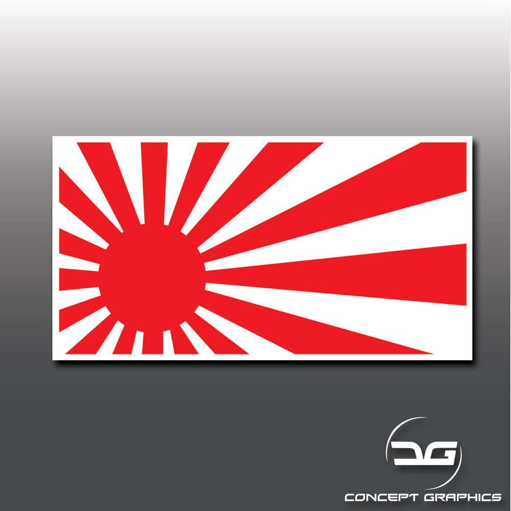 Details about jdm rising sun flag japan japanese car window bumper vinyl decal sticker drift