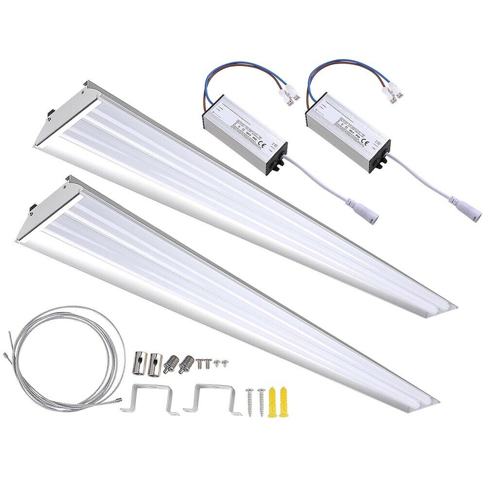 DELight® 2 PACK LED Shop Light Fixture Garage Utility