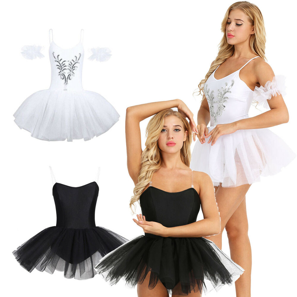 4ab11954b Adult Women s Swan Lake Ballet Tutu Dress Dance Wear Leotard Skate ...