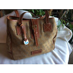 Dooney and Bourke DB Signature Canvas and Leather Large Carryall Shoulder Tote