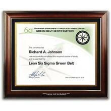 Lean Six Sigma Green Belt Training Course Certificate / Diploma - Management
