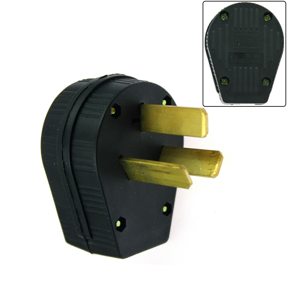 50 Amp 220 Volt 3 Prong Plug Replacement Fit Electrical RV ...