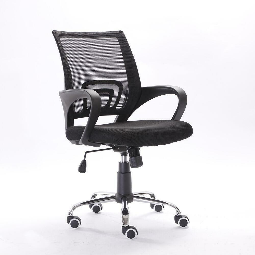 Details about ergonomic midback mesh office chair executive swivel black computer home desk