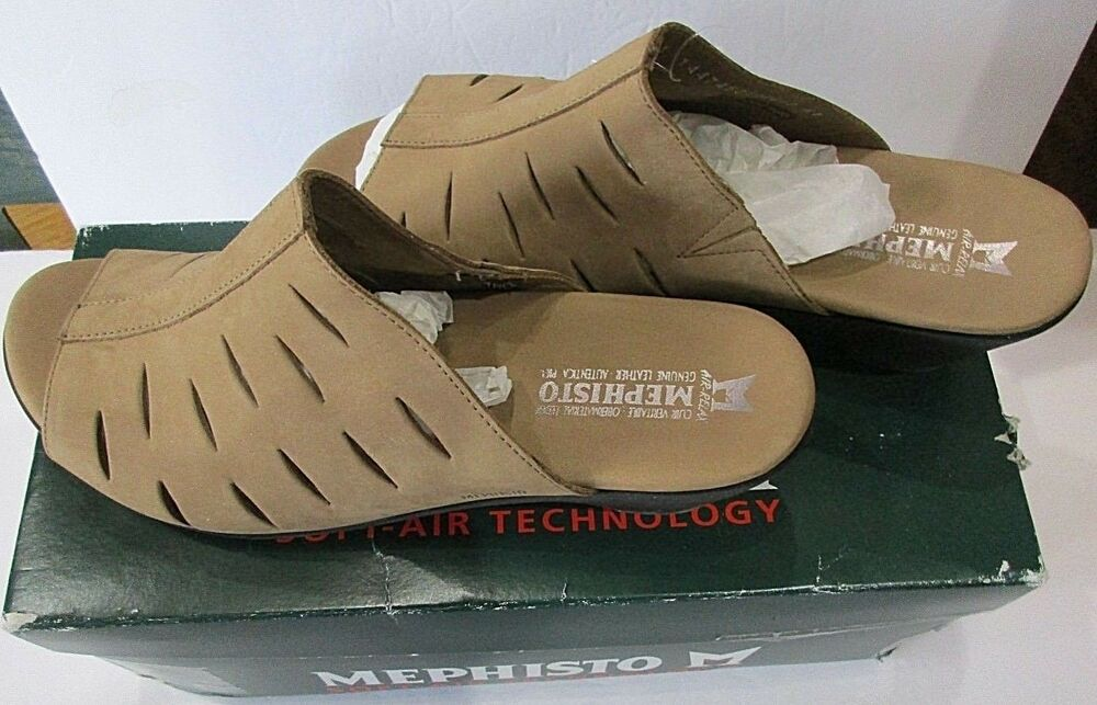 ae02598969e Details about Mephisto Womens Cyrane Shoes Size 11US Camel Slip On Sandal  Bucksoft 6931