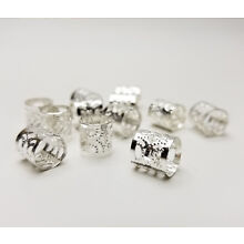 Dread Lock Beads Silver Metal Hair Accessories Jewelry Filigree Dreadlocks 10mm