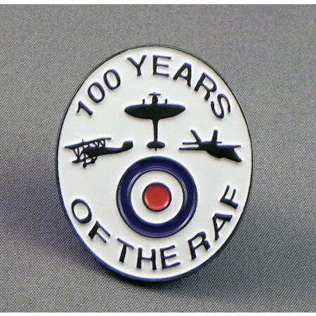 img-100 Years of the R.A.F. Enamel pin badge. 1918 - 2018. Royal Air Force.