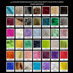 40 Colors Eden 1.5 to 2 Inch Long Pile Soft Faux Fur Fabric by the Yard - 10005