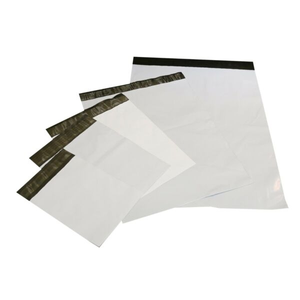 Pick Size, Quality & Quantity 1-5000 White Poly Mailers Shipping Envelopes 10x13